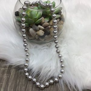 Carolee | Handknotted Silver Faux Pearl Necklace